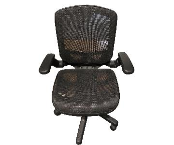 Swivel Desk Chair in Black
