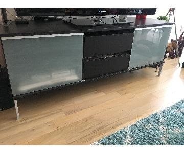 Crate & Barrel Black Media Console