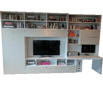 Jesse Chicago Italian Custom Built White Wall Unit