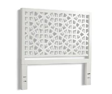 West Elm Morocco Queen Headboard in White