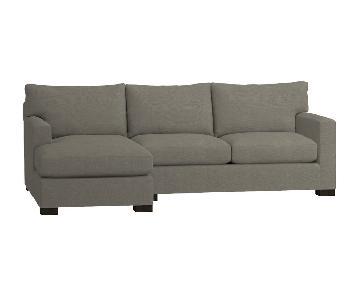 Crate & Barrel Axis 2-Piece Sectional Sofa
