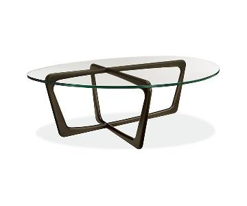 Room & Board Dunn Coffee Table w/ Tempered Glass Top