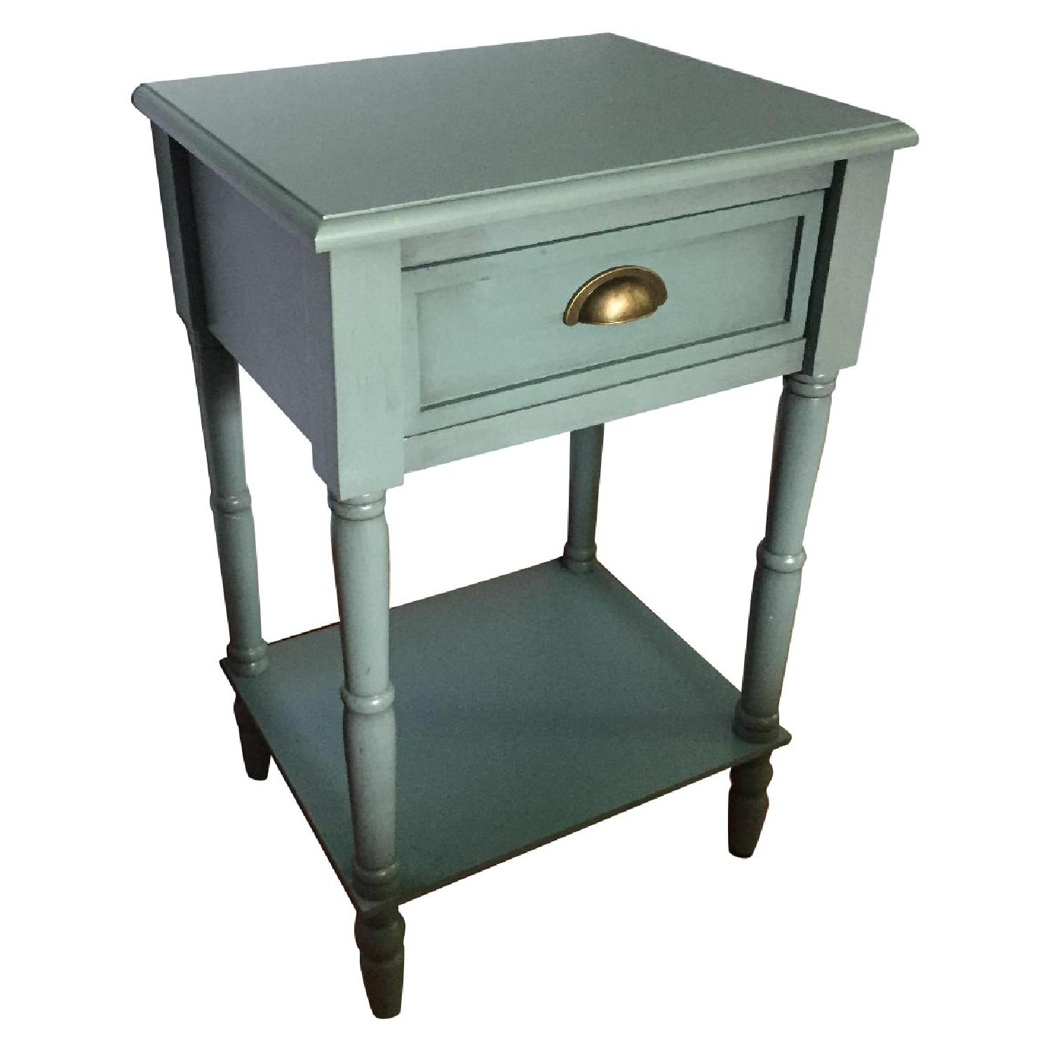 Vintage Blue Night Stand Aptdeco
