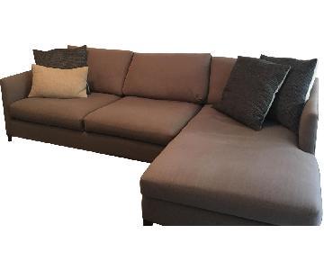Crate & Barrel Klyne 2-Piece Sectional Sofa