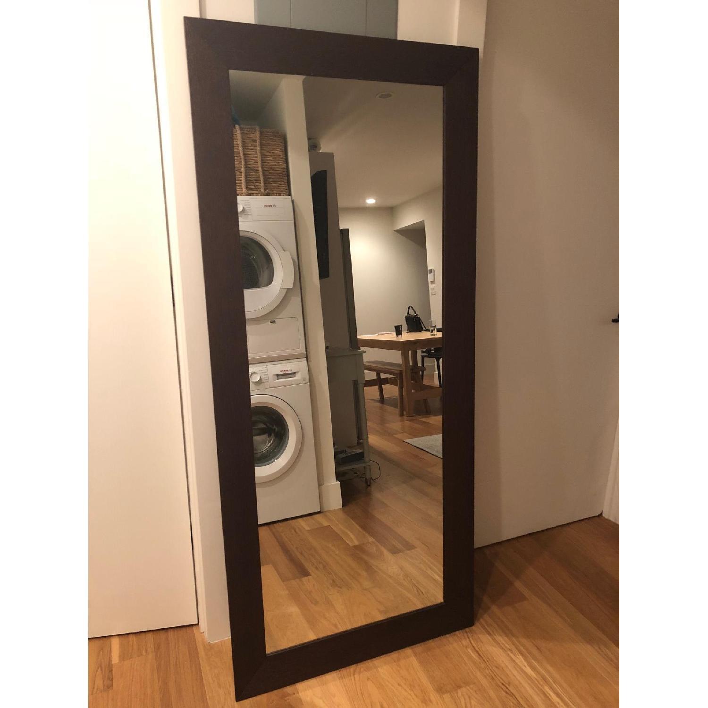 West Elm Wood Framed Floor Mirror - AptDeco