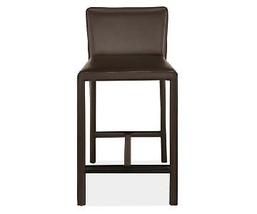 Room & Board Sava Counter Stools in Brown Leather