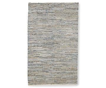 West Elm Recycled Denim Jute Rug