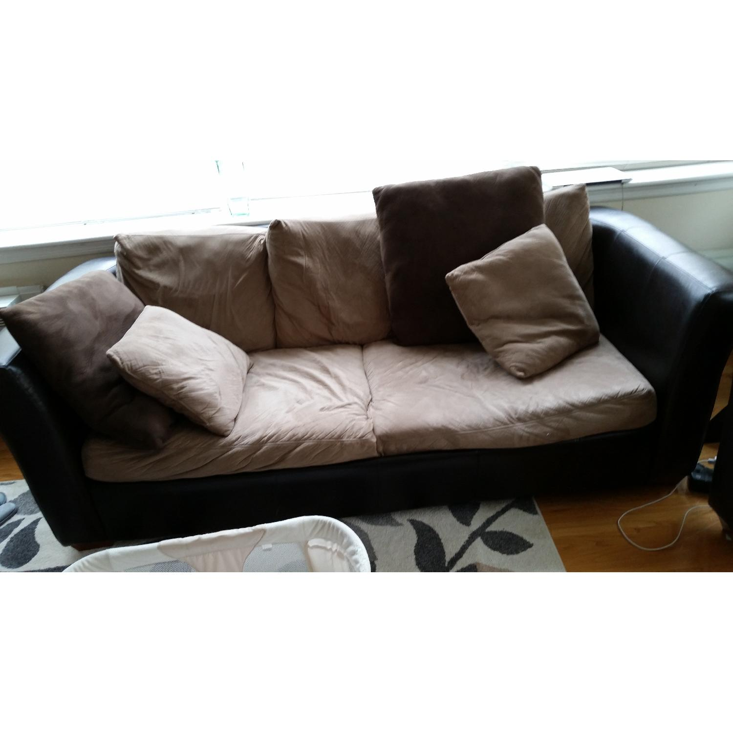 ideas sofa with your faux living leather room sleeper for awesome