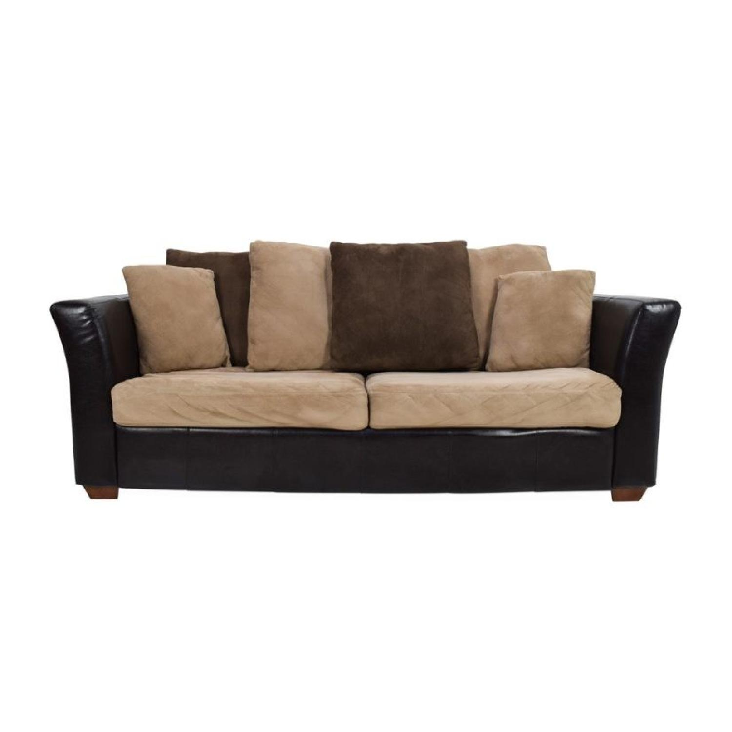 Jennifer Convertibles Faux Leather Sleeper Sofa Aptdeco