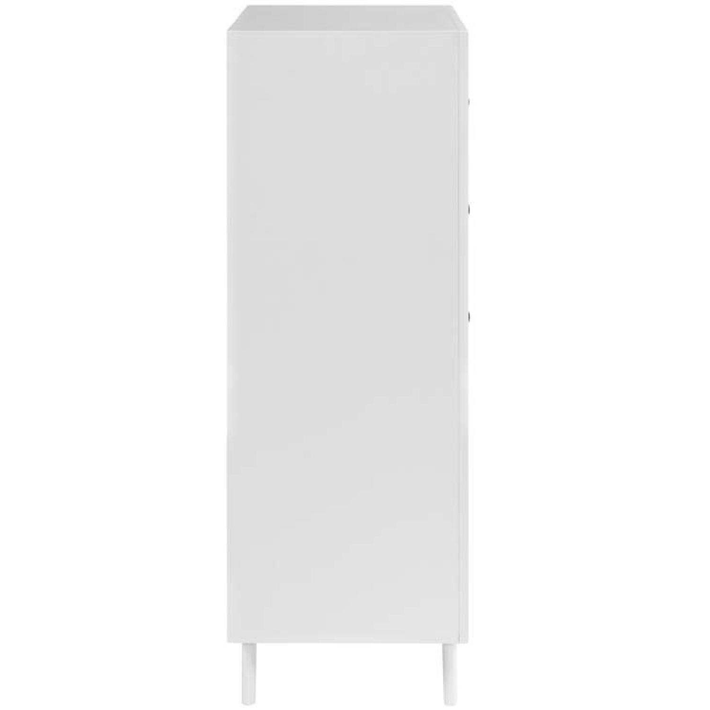 Mid Century Modern 6 Drawer Dresser in White-1