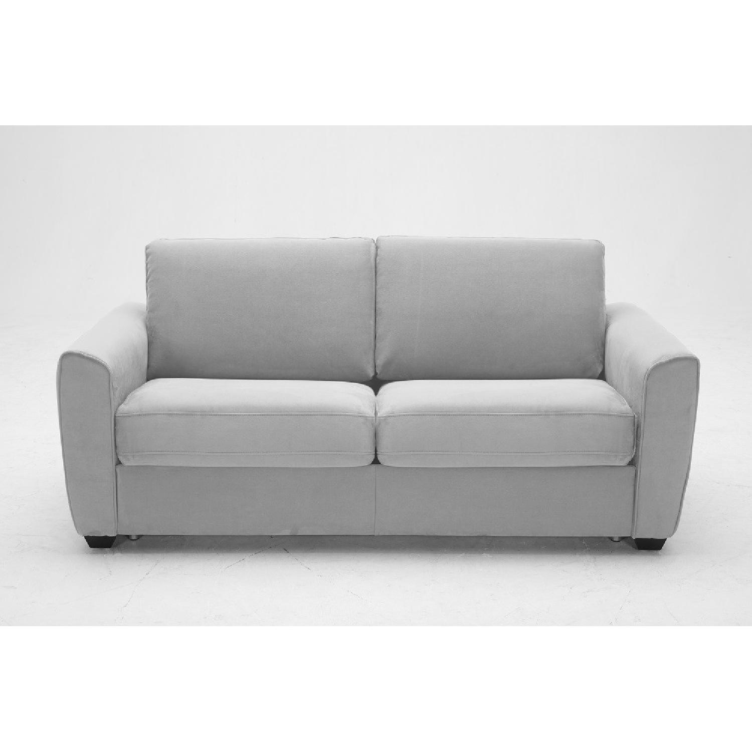Prime Grey Microfiber Sofa Bed W Memory Foam Sleeper Aptdeco Gmtry Best Dining Table And Chair Ideas Images Gmtryco