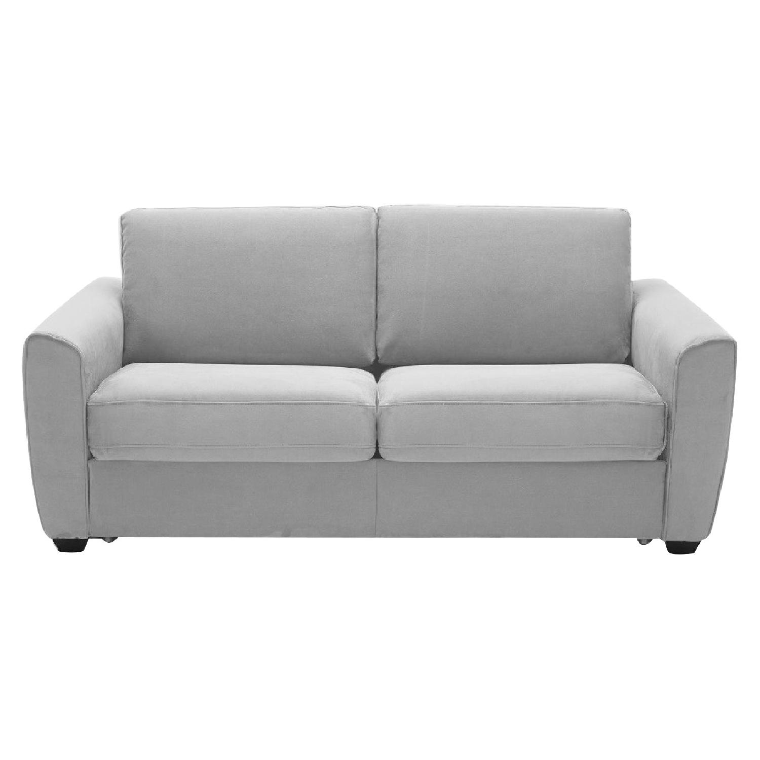 Brilliant Grey Microfiber Sofa Bed W Memory Foam Sleeper Aptdeco Ibusinesslaw Wood Chair Design Ideas Ibusinesslaworg