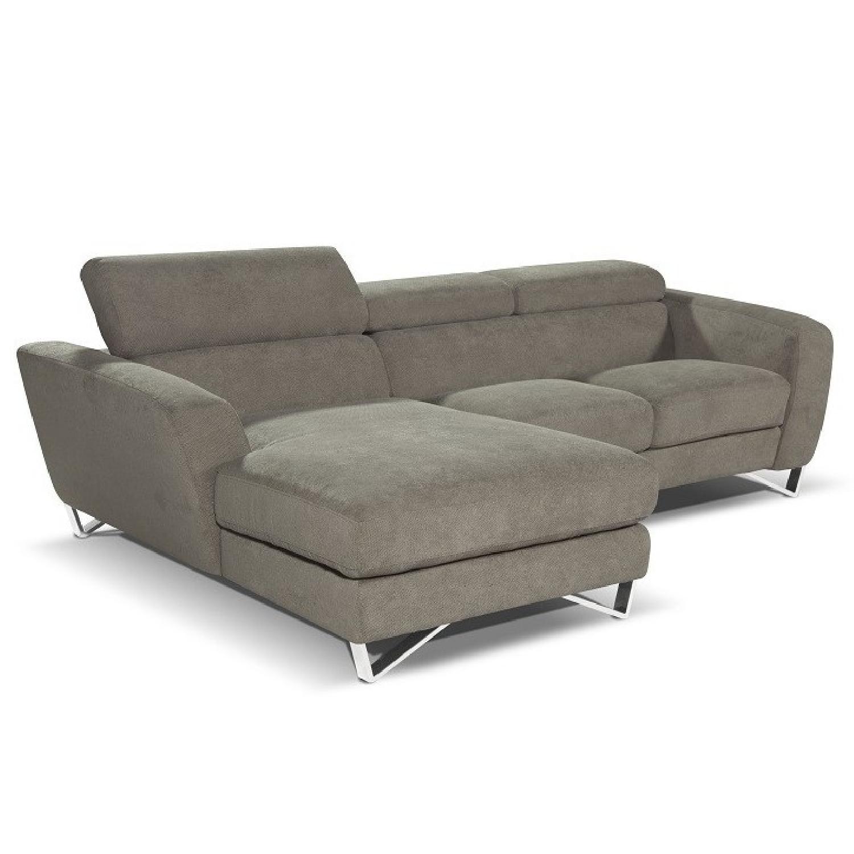 Mini Sectional w/ High Density Foam & Stainless Steel Legs