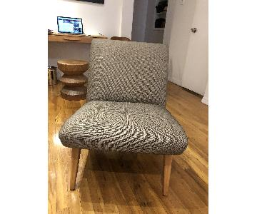 Knoll Vintage Mid-Century Jens Risom Slipper Chairs