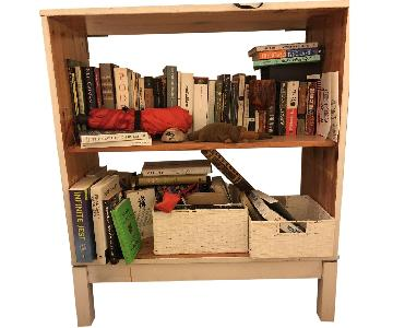 White Wood Bookcase