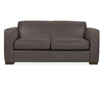 Room & Board Ian Leather Sleeper Sofa