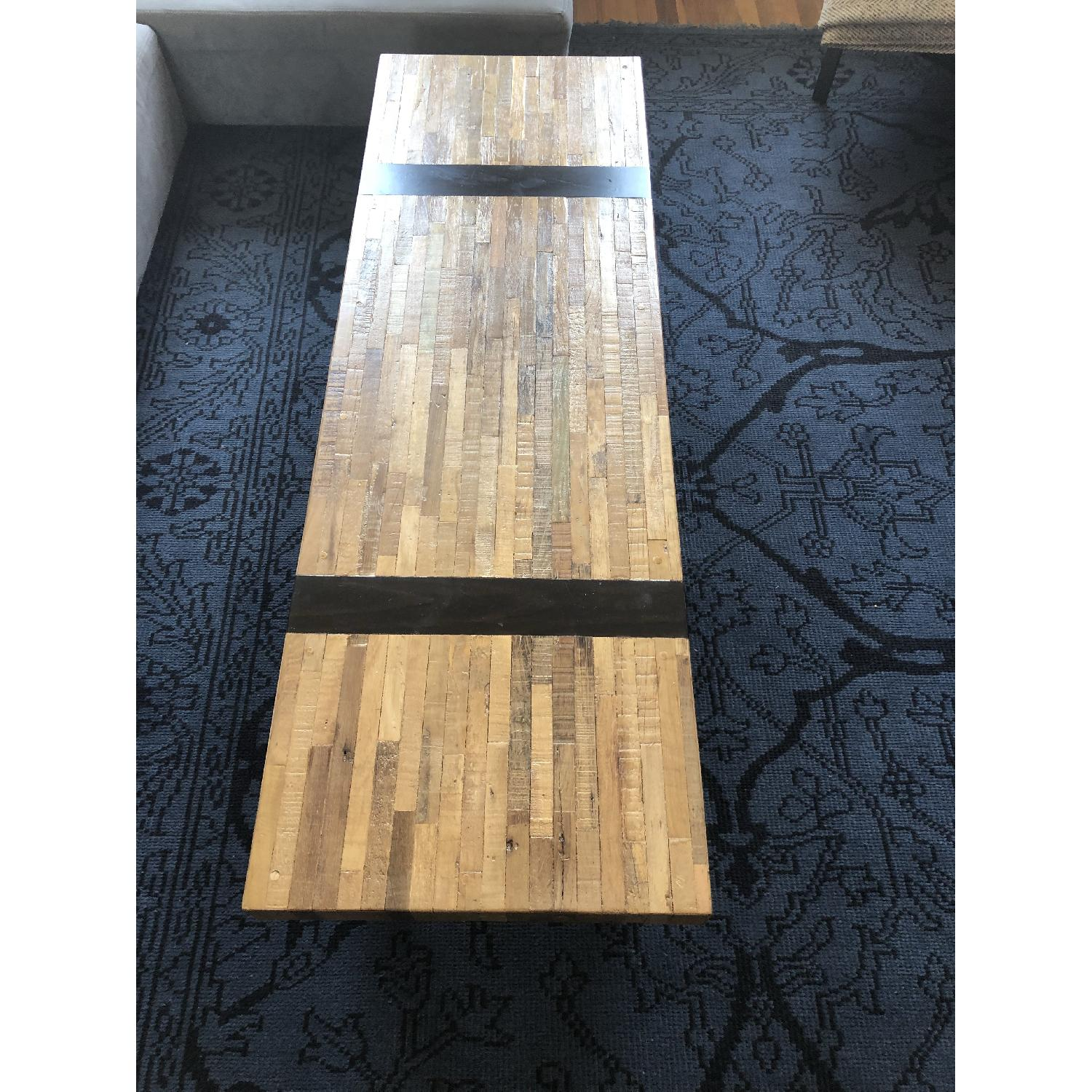 Crate & Barrel Reclaimed Wood Rectangular Coffee Table-0