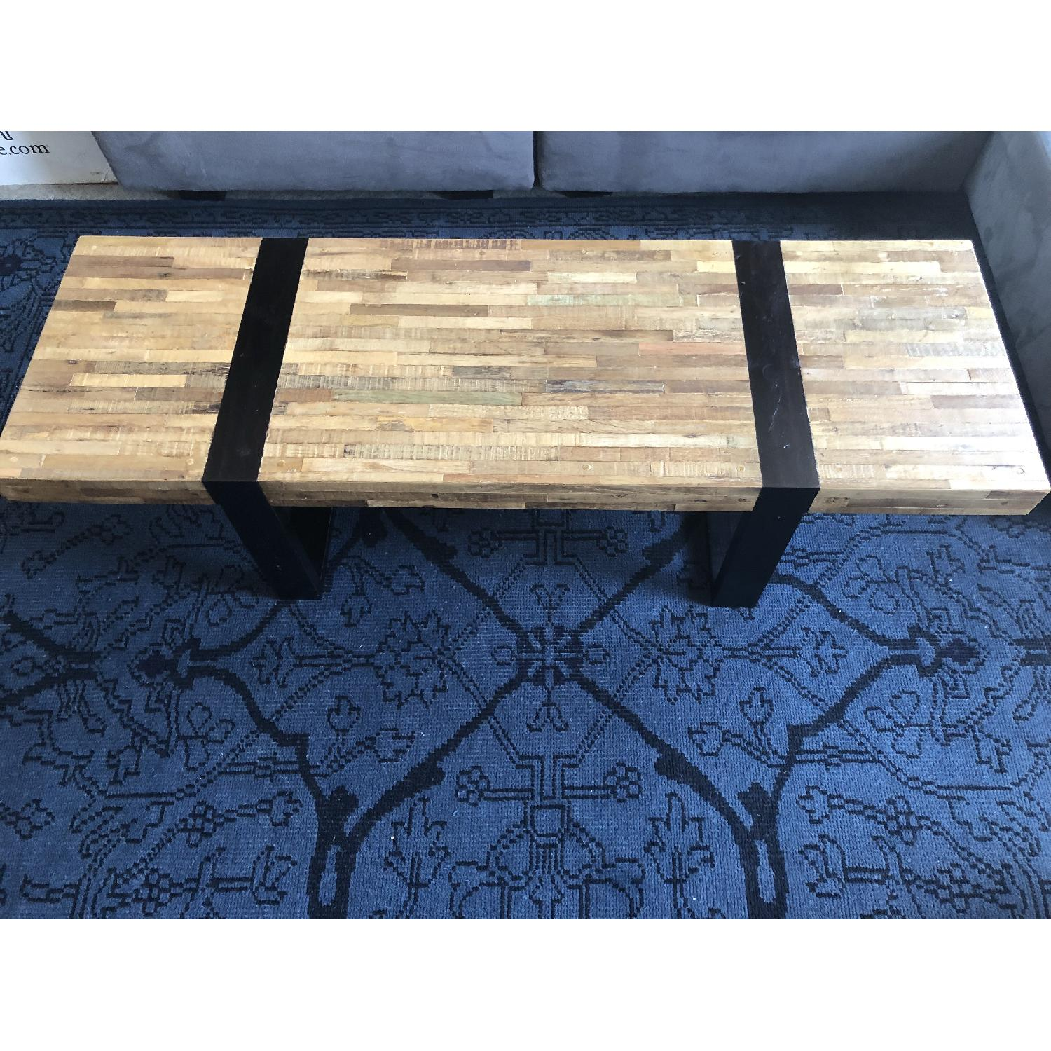 Crate & Barrel Reclaimed Wood Rectangular Coffee Table-1