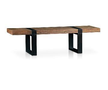 Crate & Barrel Reclaimed Wood Rectangular Coffee Table