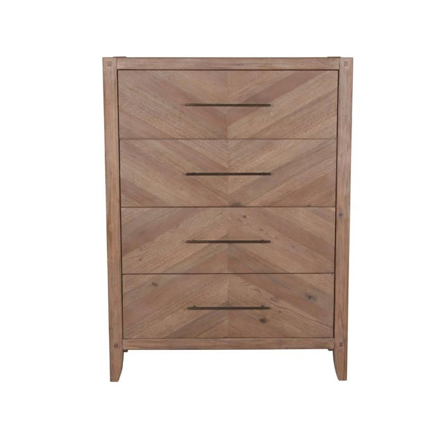 Chest in White Wash Natural Finish w/ Extra Long Handles
