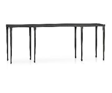 Crate & Barrel Silviano Cast Iron Console Table
