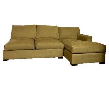 Crate & Barrel Axis Full Sectional Sleeper Sofa