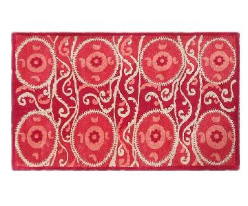 The Rug Market Red & Ivory Wool Area Rug