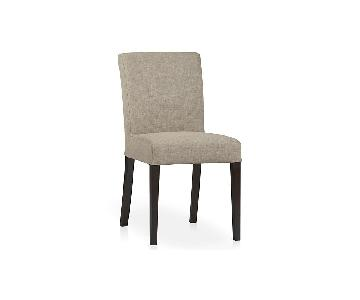 Crate & Barrel Lowe Khaki Upholstered Dining Chairs