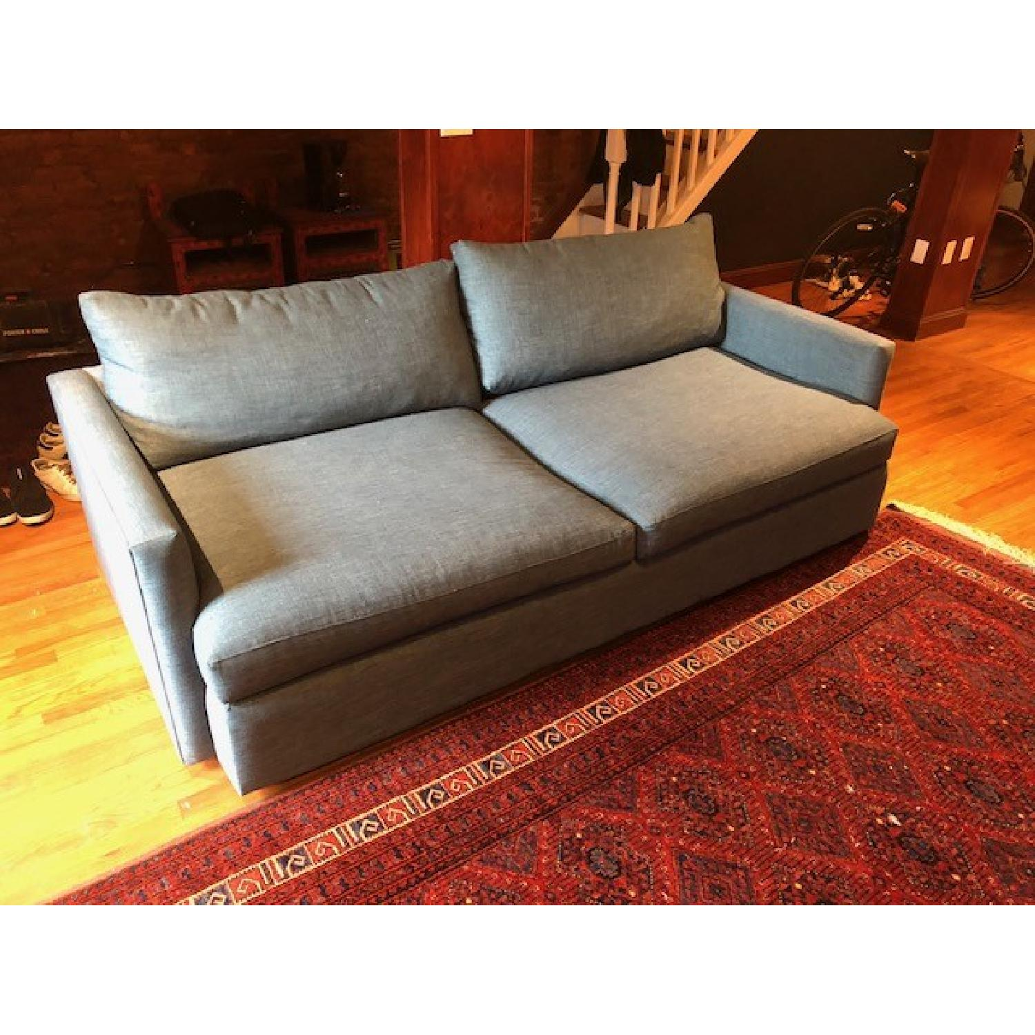 Crate & Barrel Lounge II Apartment Sofa & Ottoman-2