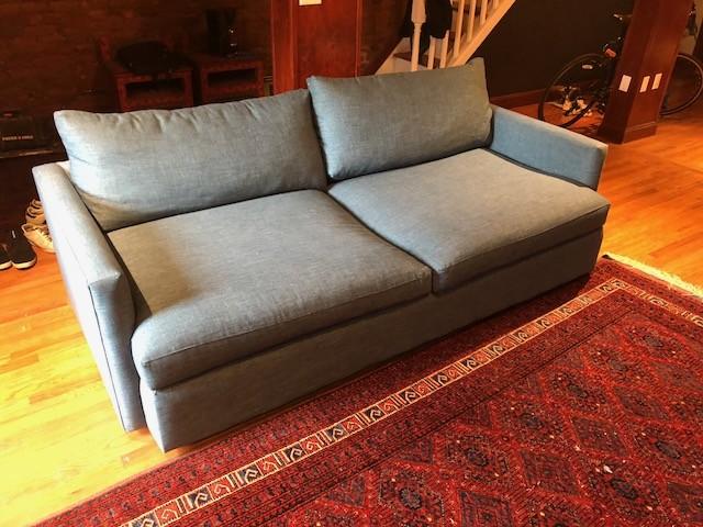 Crate & Barrel Lounge II Apartment Sofa & Ottoman