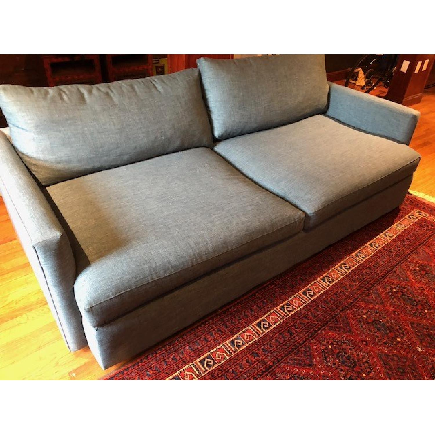 Crate & Barrel Lounge II Apartment Sofa & Ottoman-4