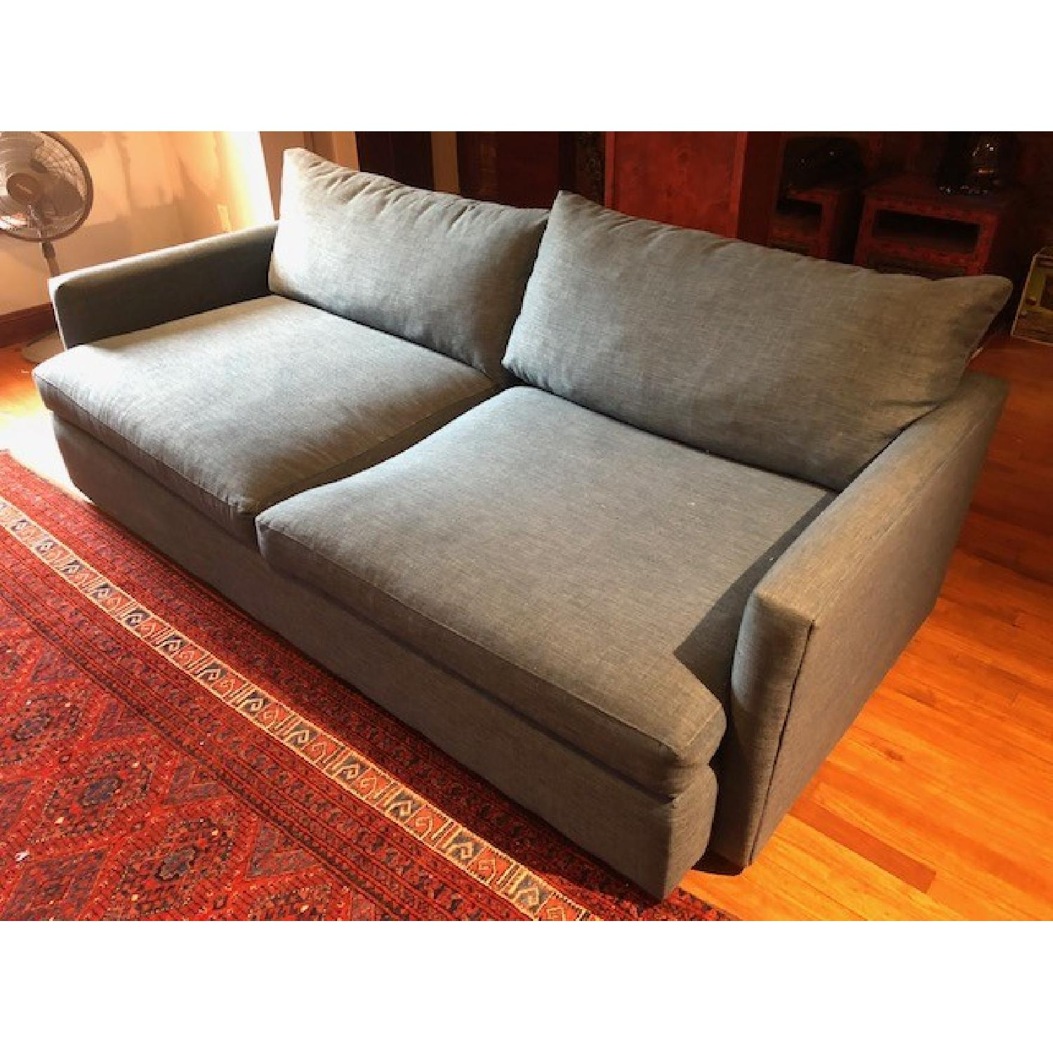Crate & Barrel Lounge II Apartment Sofa & Ottoman-6