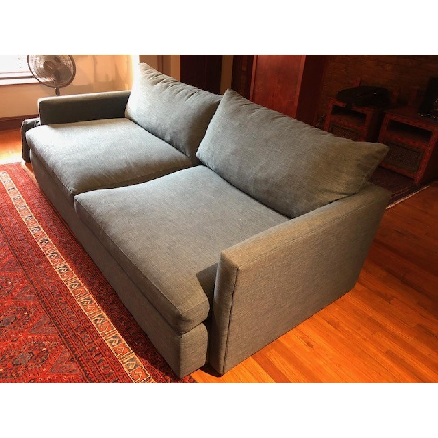Crate & Barrel Lounge II Apartment Sofa & Ottoman-10