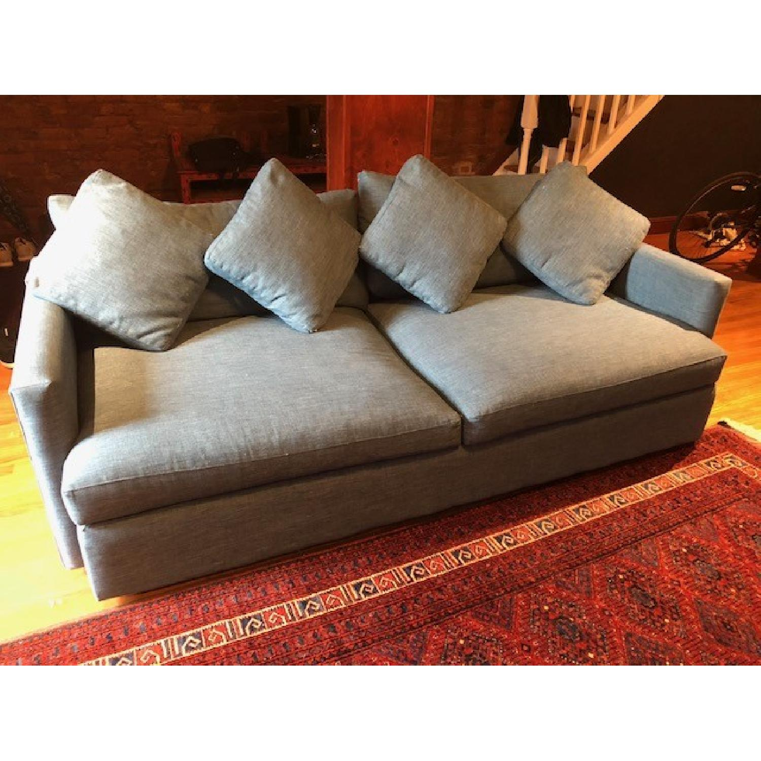 Crate & Barrel Lounge II Apartment Sofa & Ottoman-12