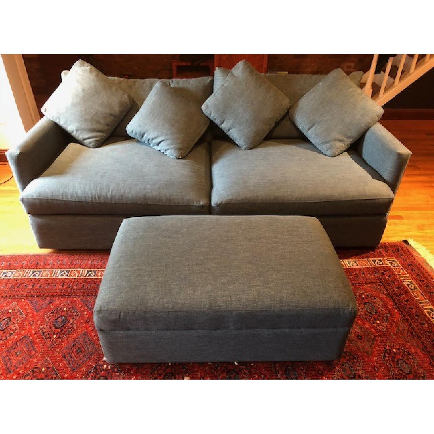 Crate & Barrel Lounge II Apartment Sofa & Ottoman-13