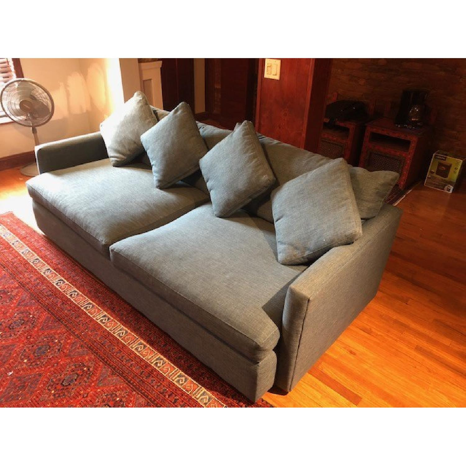 Crate & Barrel Lounge II Apartment Sofa & Ottoman-14