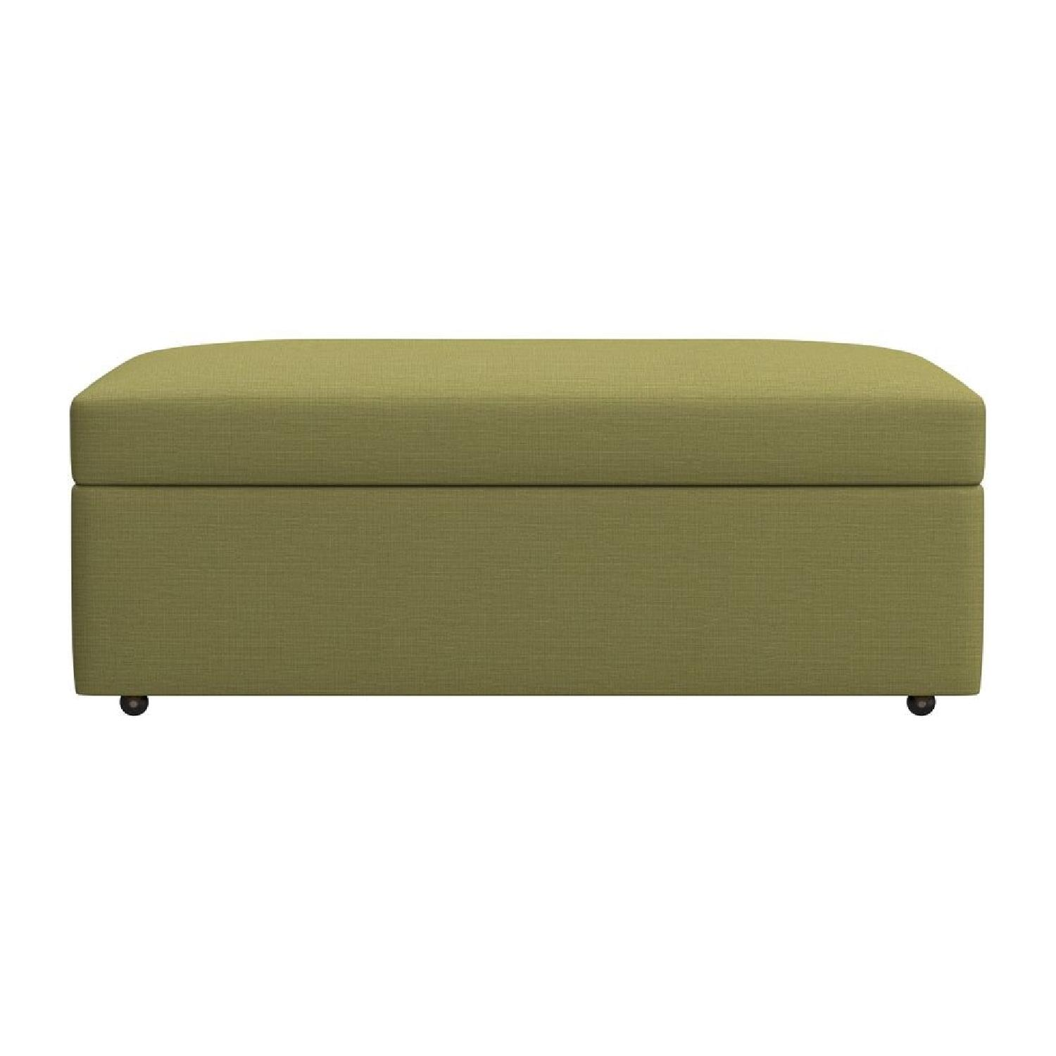 Crate & Barrel Lounge II Apartment Sofa & Ottoman-15