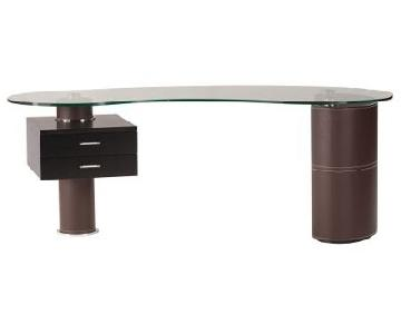 Bova Furniture Katie Modern Desk w/ Glass Top