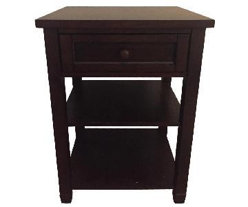 Pottery Barn 1 Drawer/2 Shelves Nightstand
