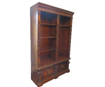 Solid Wood Bookcase w/ 2 File Drawers