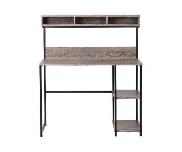 Metal Computer Desk w/ Hutch