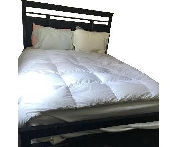 Bob's Queen Size Bed w/ Black Leather Headboard