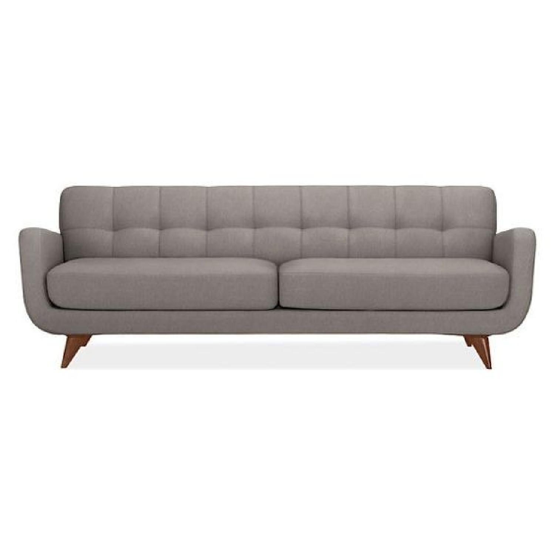 Room U0026 Board Anson Light Grey Tufted Back Sofa ...