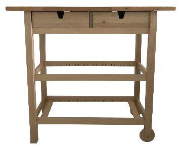 Ikea Forhoja Birch Kitchen Cart