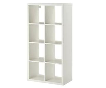 Ikea Kallax Bookcase w/ Drawers Doors & Baskets