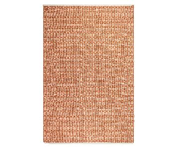 Fab Habitat Indoor/Outdoor Rug in Orange & Ivory