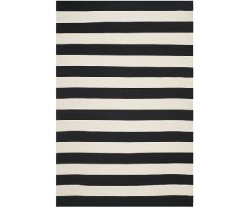 Safavieh Montauk Striped Cotton Black/Ivory Area Rug