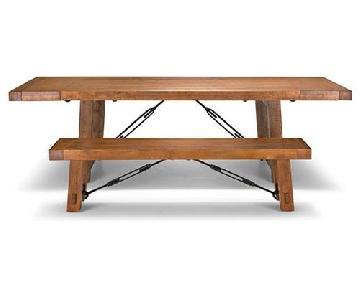 InspireQ Rustic Oak 6-Piece Dining Set