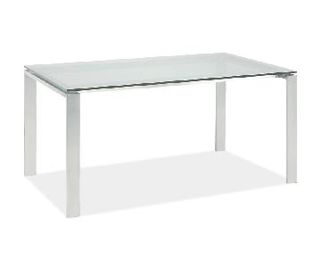 Room & Board Rand Stainless Steel Desk