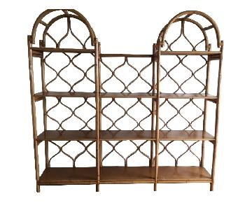 Bamboo & Rattan Open Bookcase